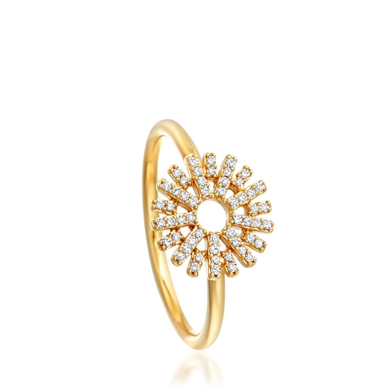 Rising Sun Diamond Ring