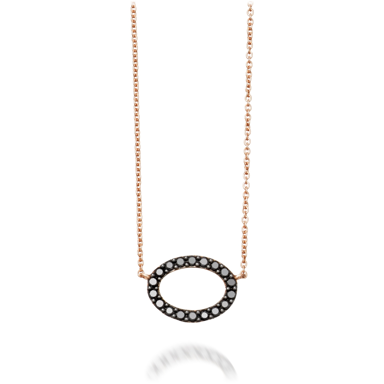 Halo Black Diamond Pendant Necklace