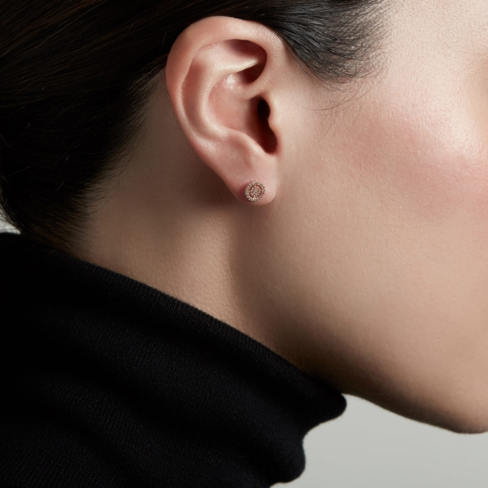 Mini Icon Aura Diamond Stud Earrings