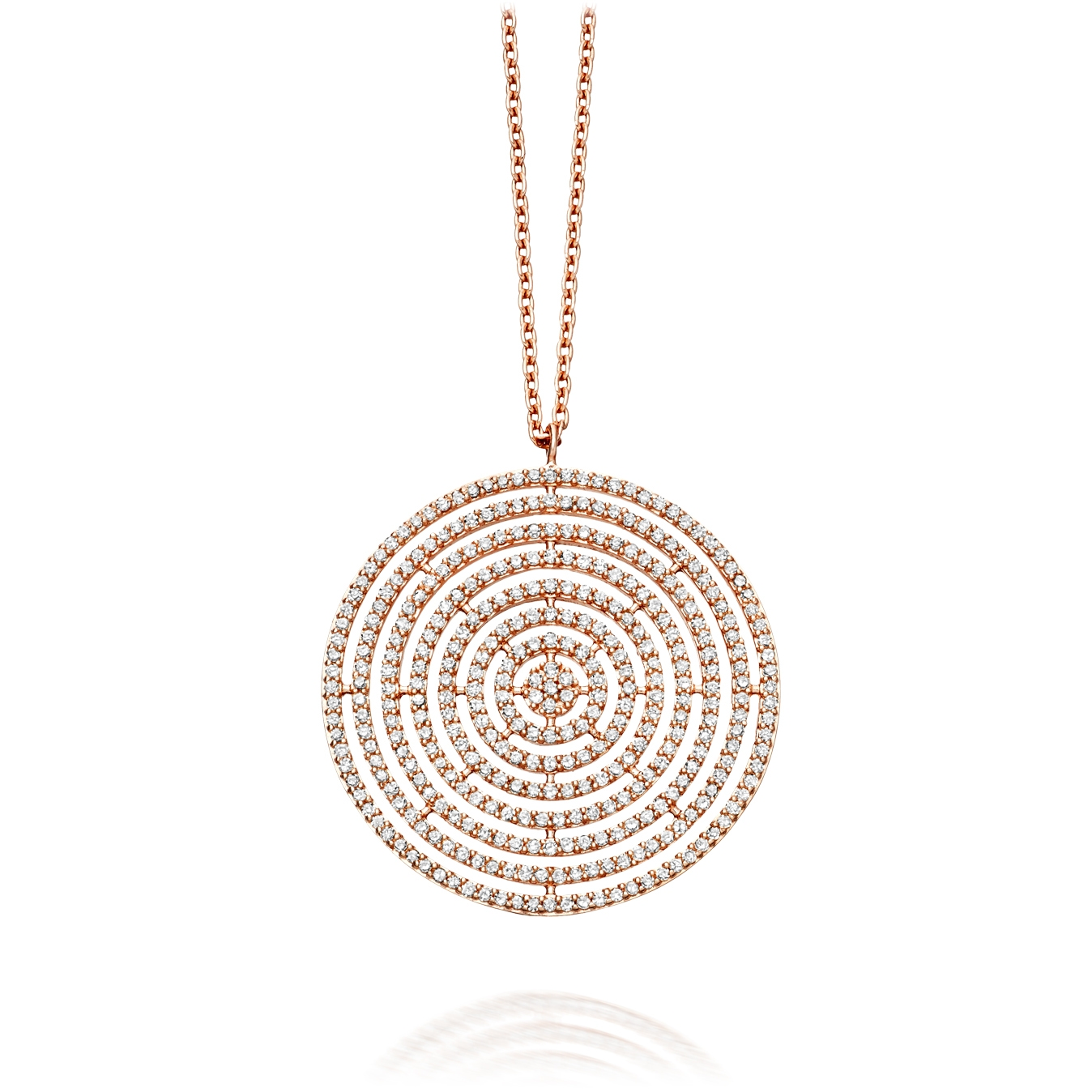 Large Icon Aura Diamond Pendant Necklace