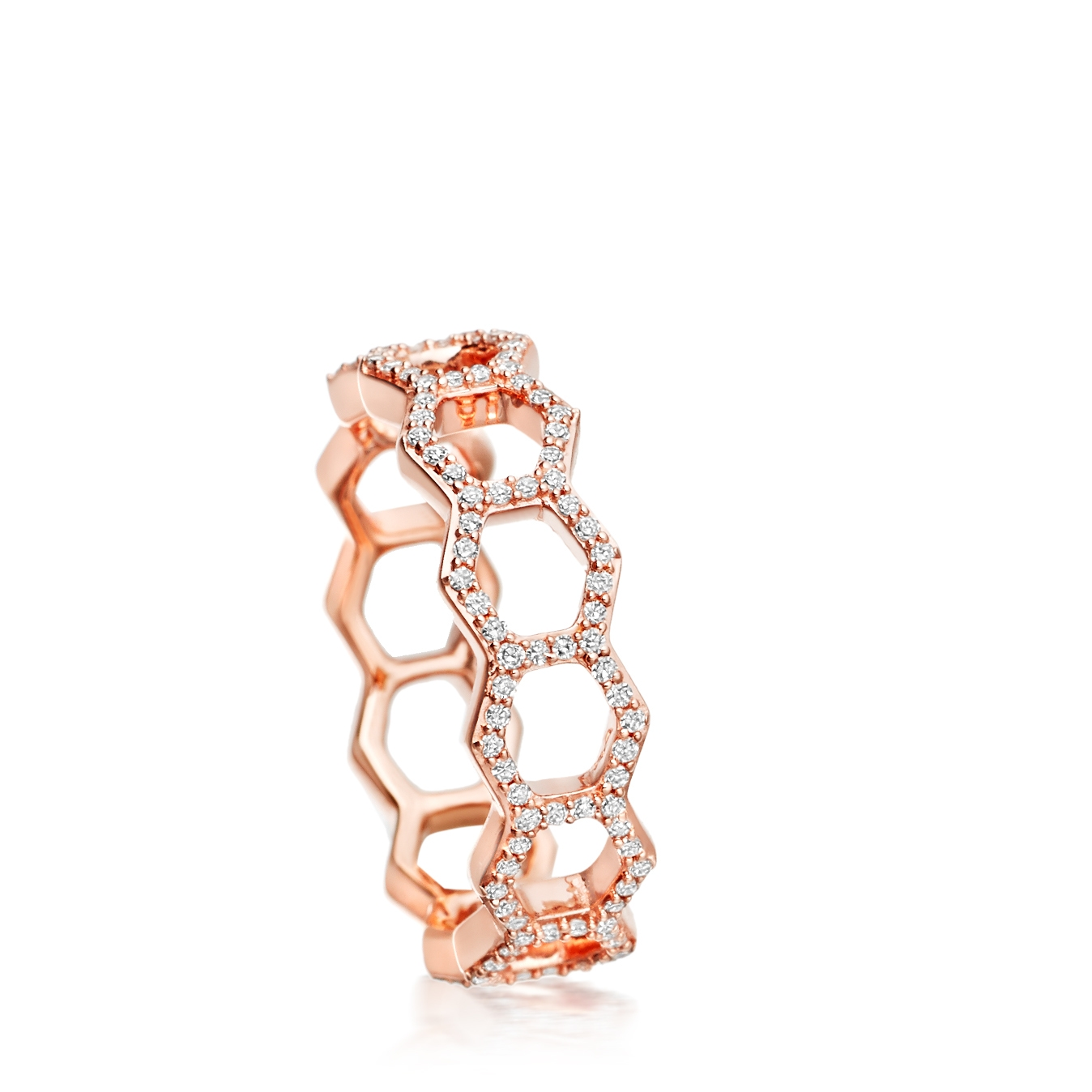 Honeycomb Diamond Ring