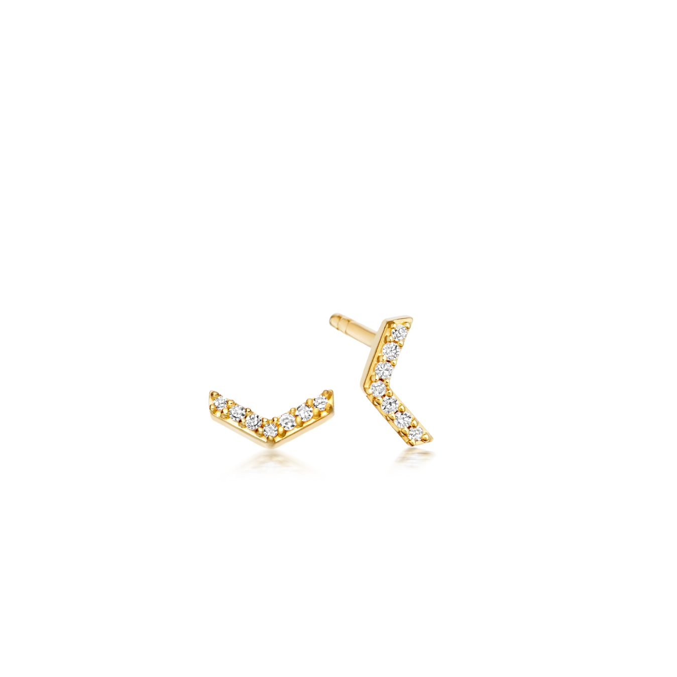 Varro Honeycomb Diamond Stud Earrings