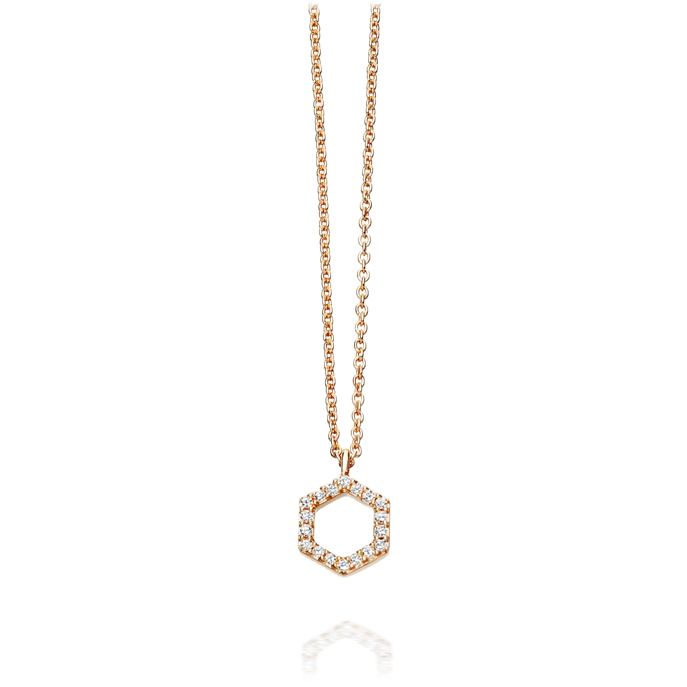 Honeycomb Diamond Pendant Necklace