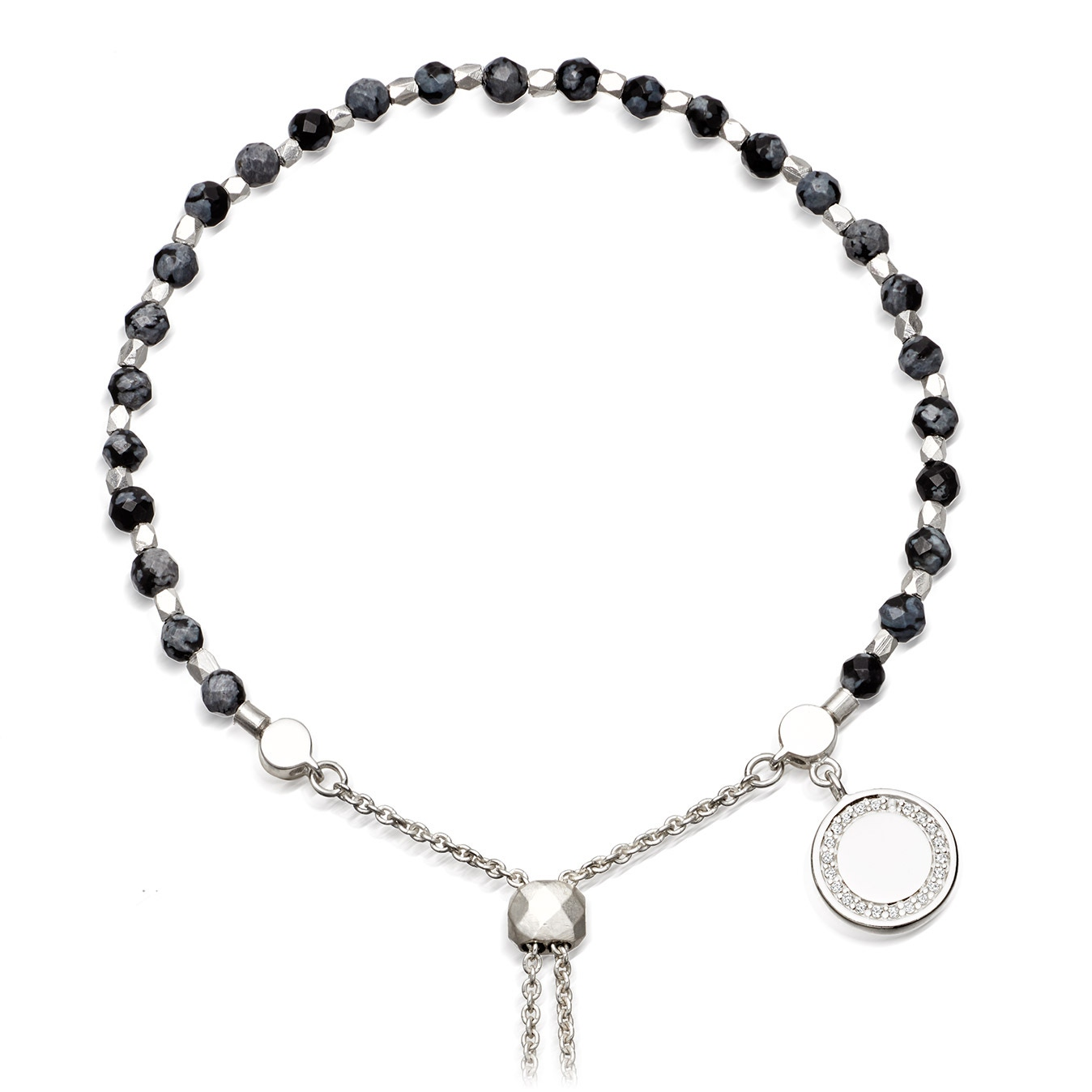 Thundercloud Obsidian Kula Bracelet