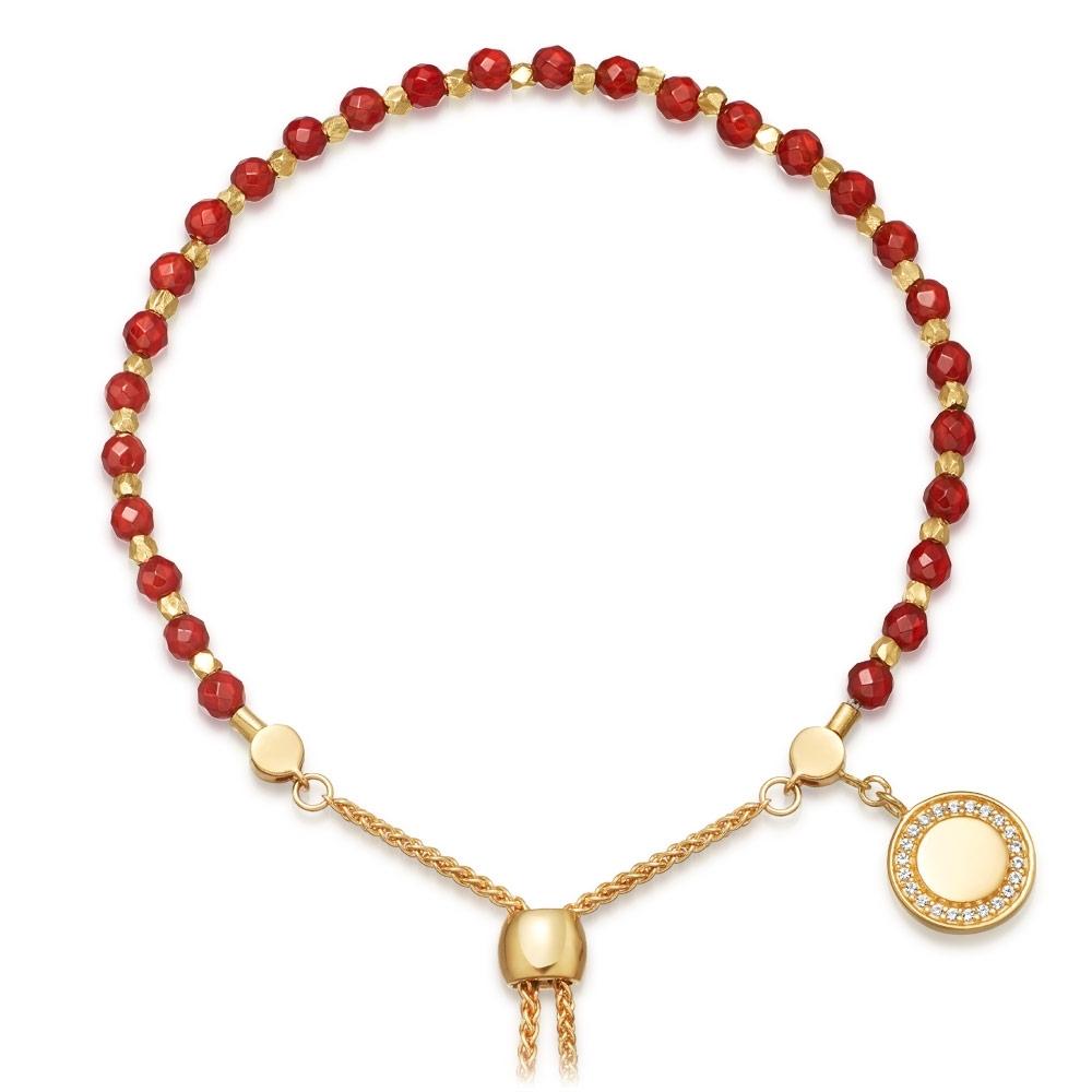 Red Agate Cosmos Kula Bracelet