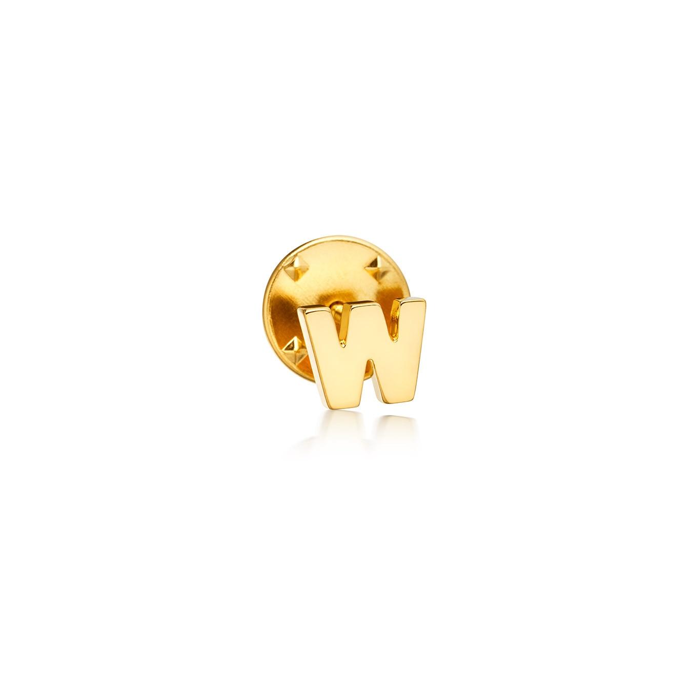 Initial 'W' Biography Pin