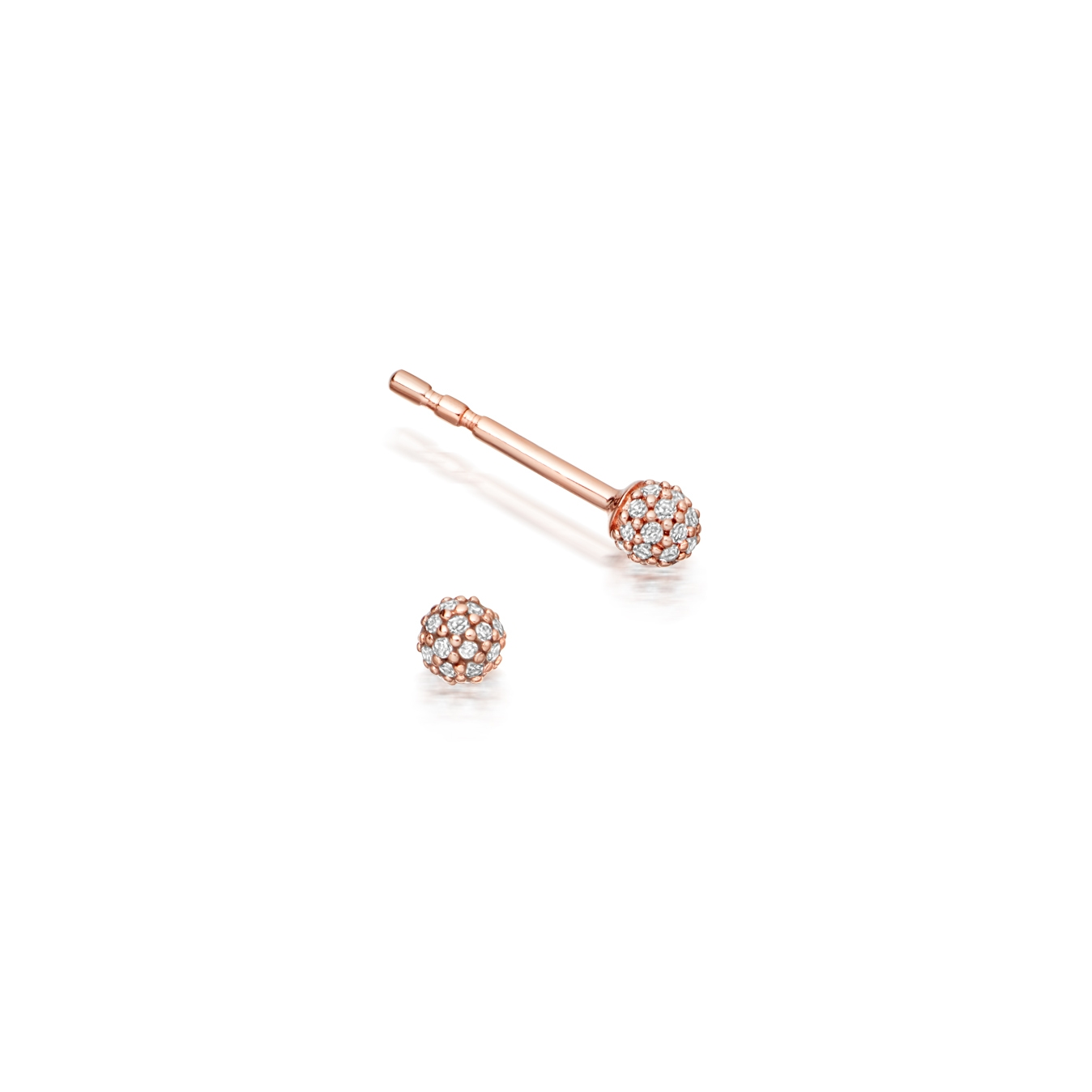 Pavé Ball Halo Diamond Stud Earrings