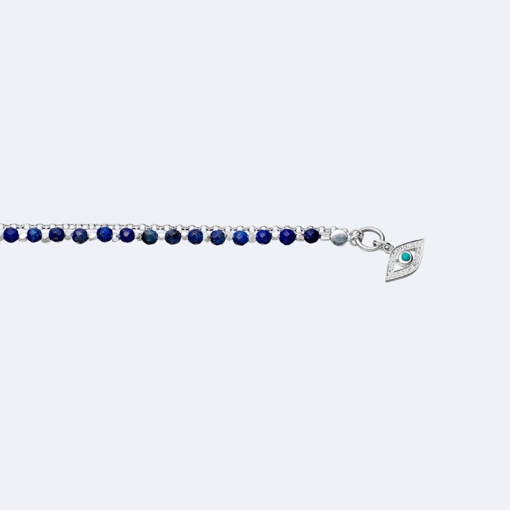 Lapis Evil Eye Biography Bracelet
