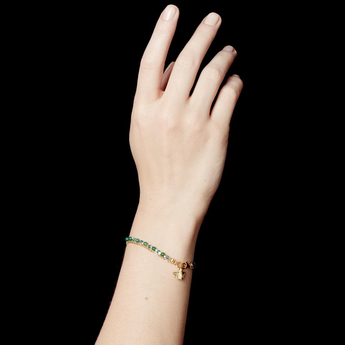 Apatite Ginkgo Biography Bracelet