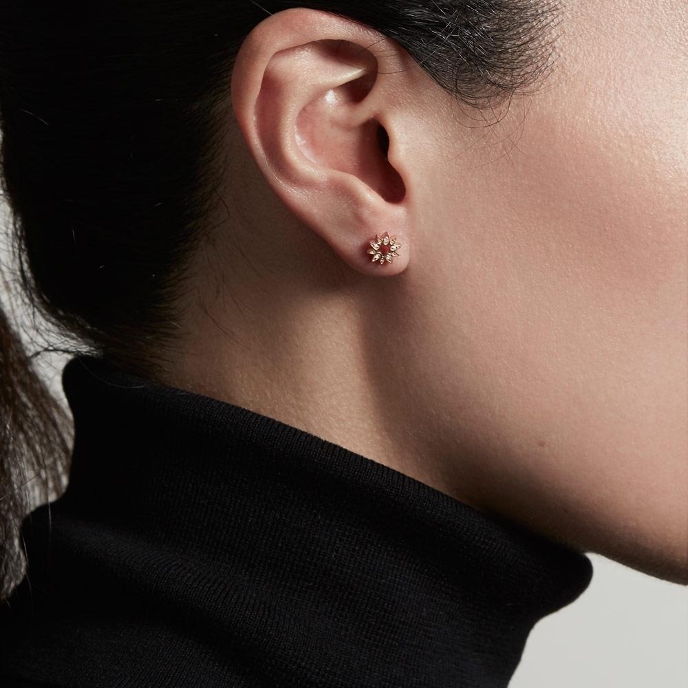 Mini Sun Biography Stud Earrings
