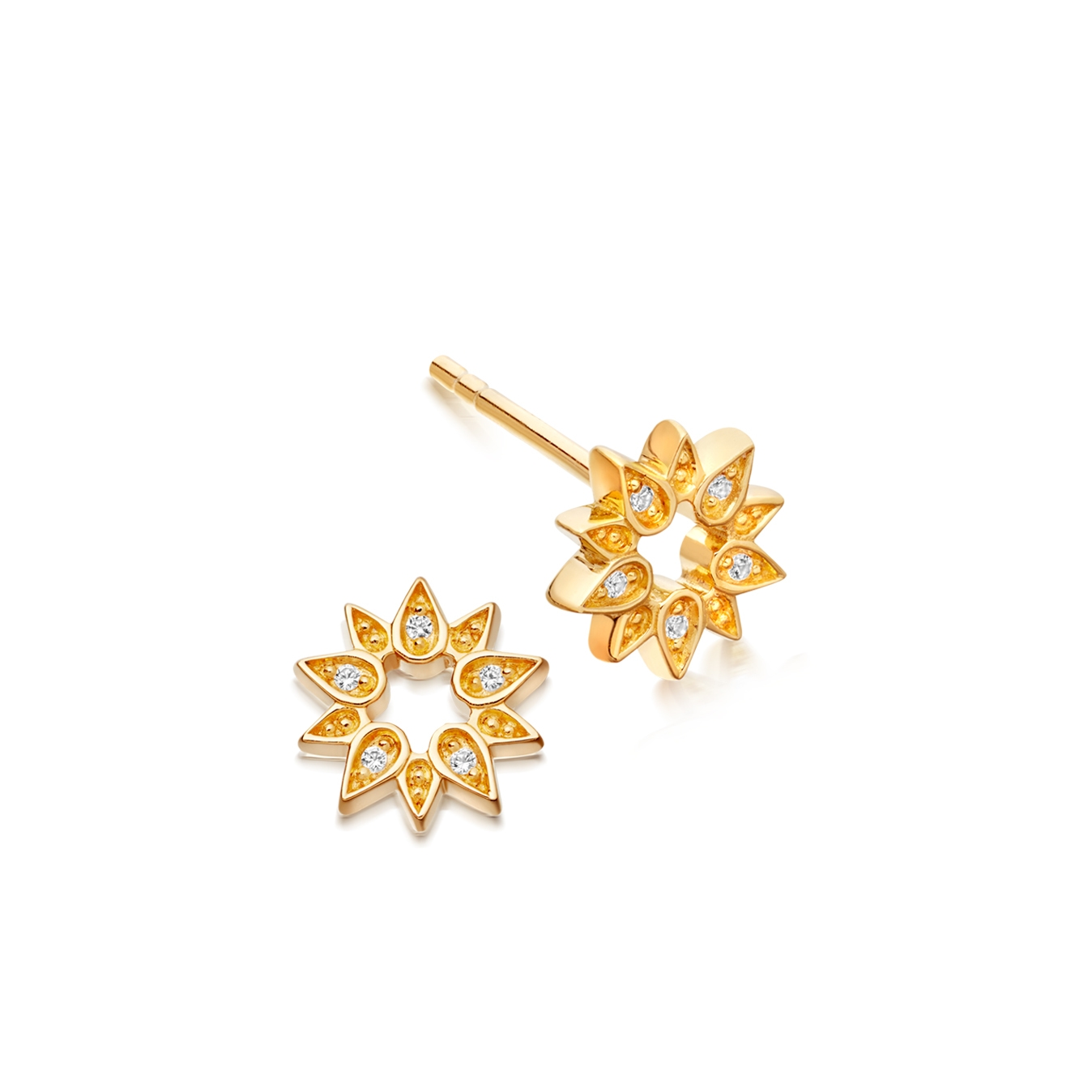 Mini Sun Biography Stud Earrings