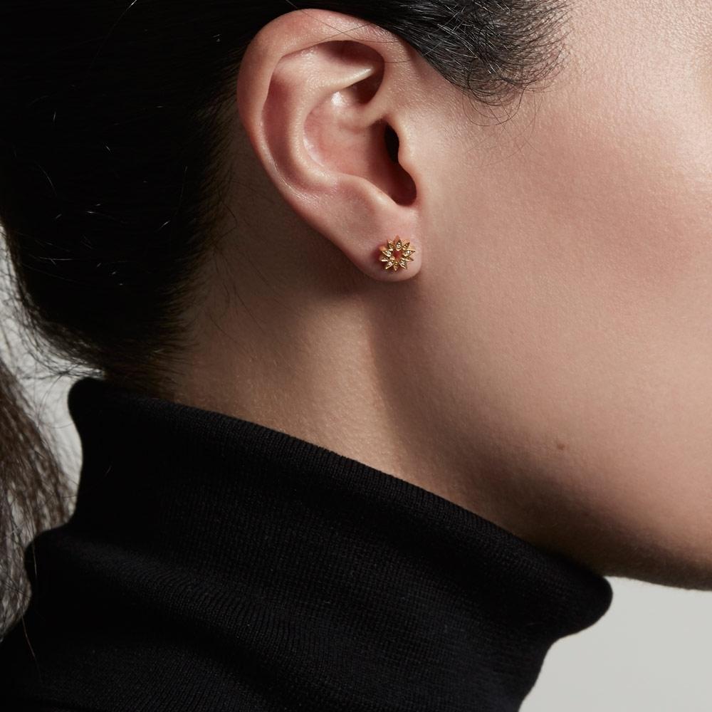 Mini Sun Biography Single Stud Earring