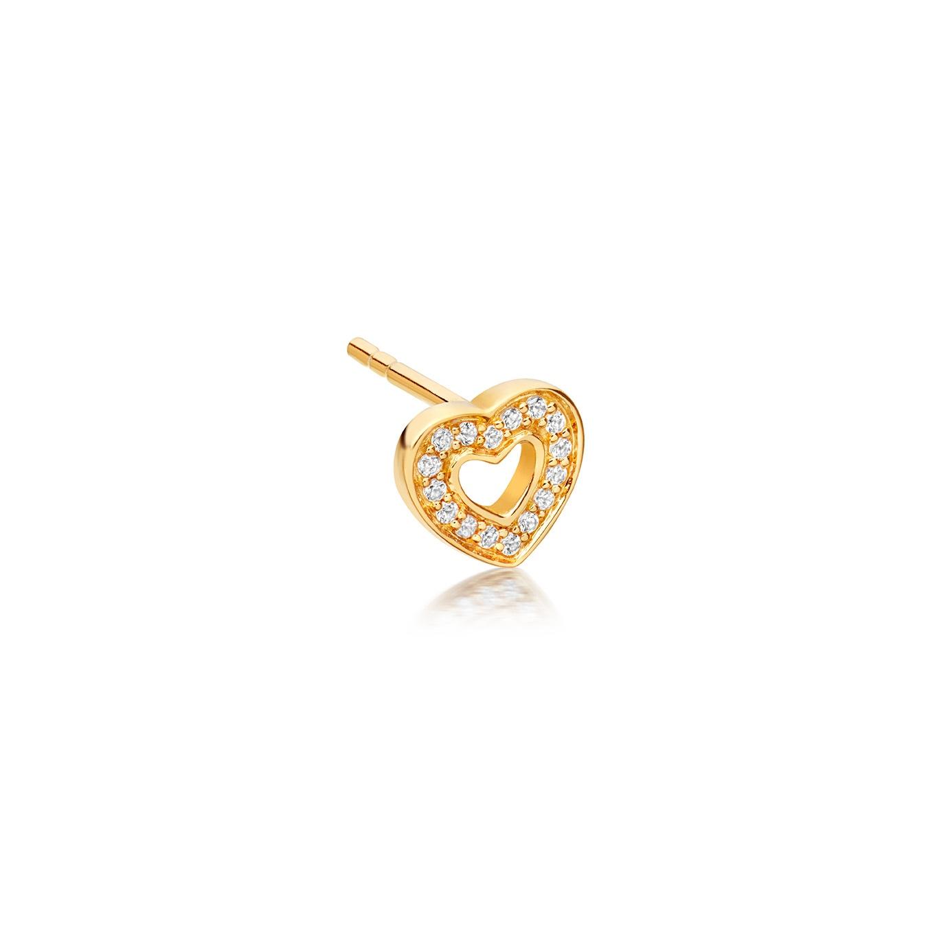 Mini Heart Biography Single Stud Earring