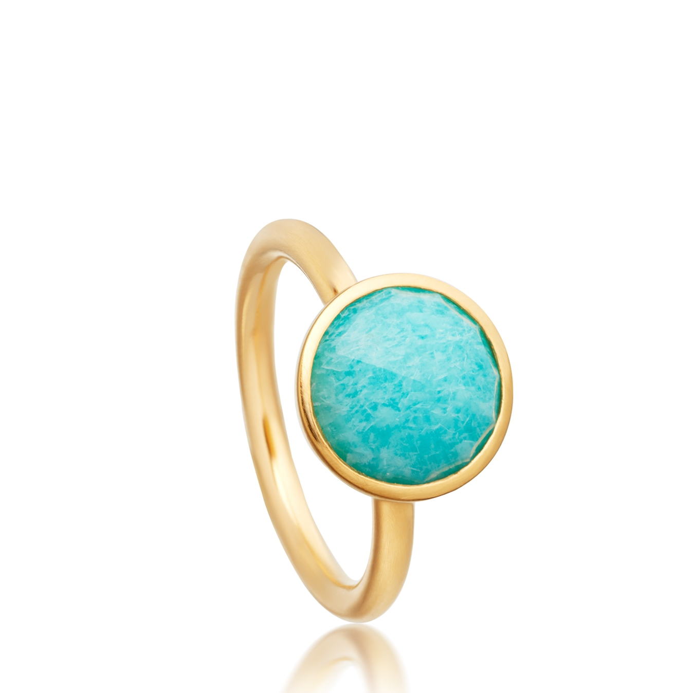 Round Amazonite Stilla Ring