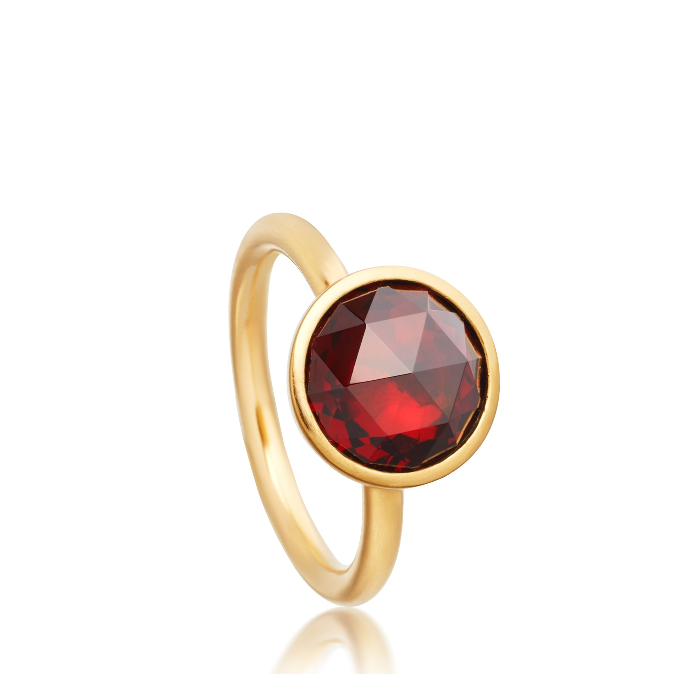 Round Garnet Stilla Ring