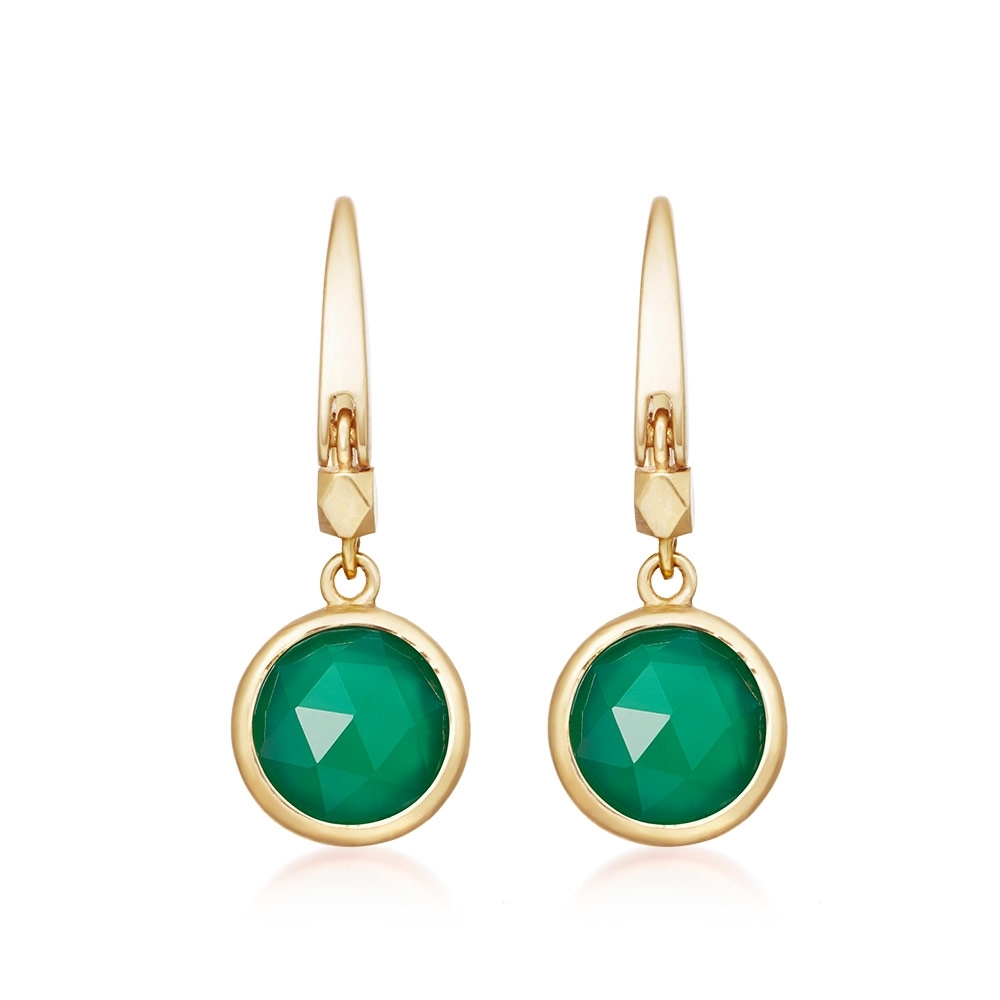 Stilla Green Onyx Drop Earrings