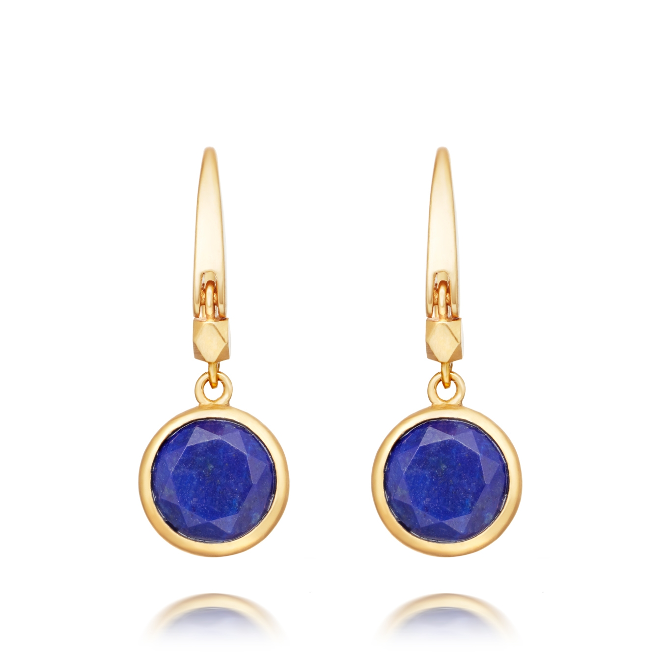 Mini Lapis Round Stilla Drop Earrings