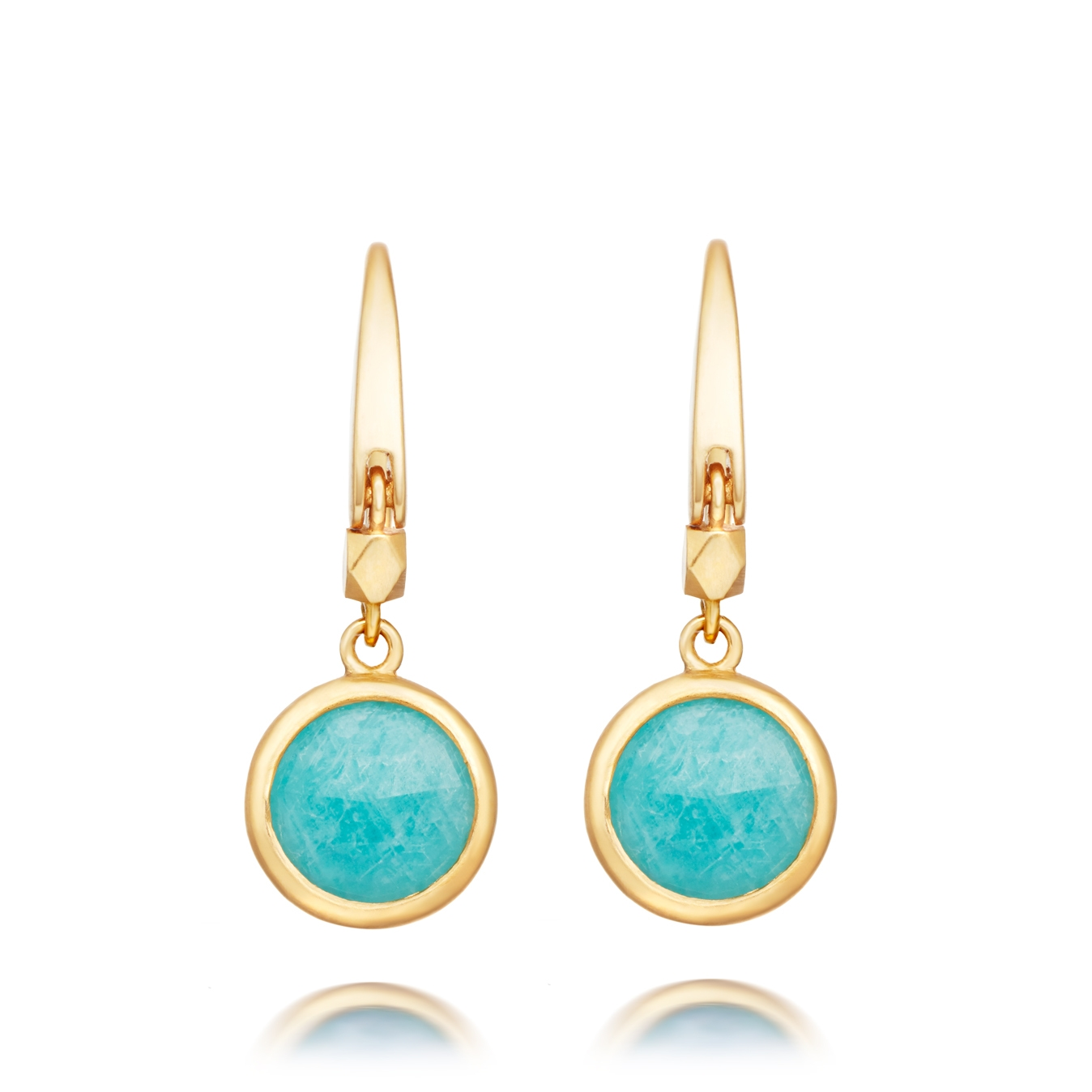 Mini Amazonite Round Stilla Drop Earrings