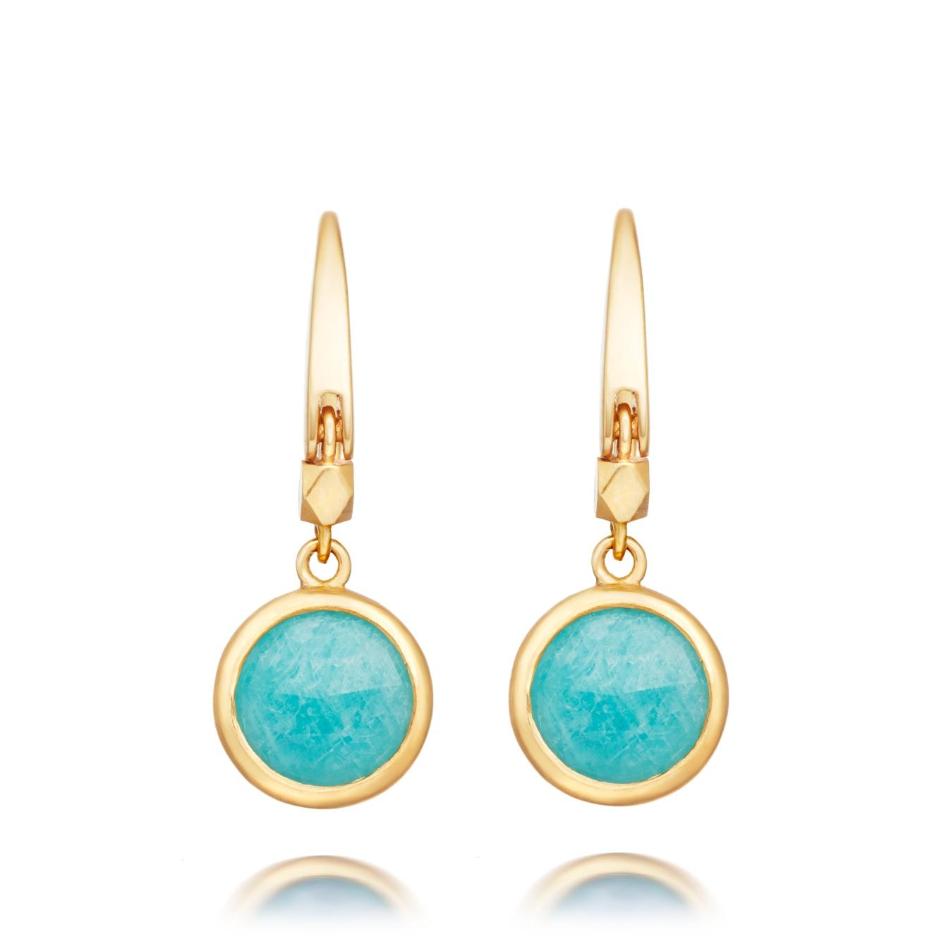 Mini Amazonite Round Stilla Drop Earrings
