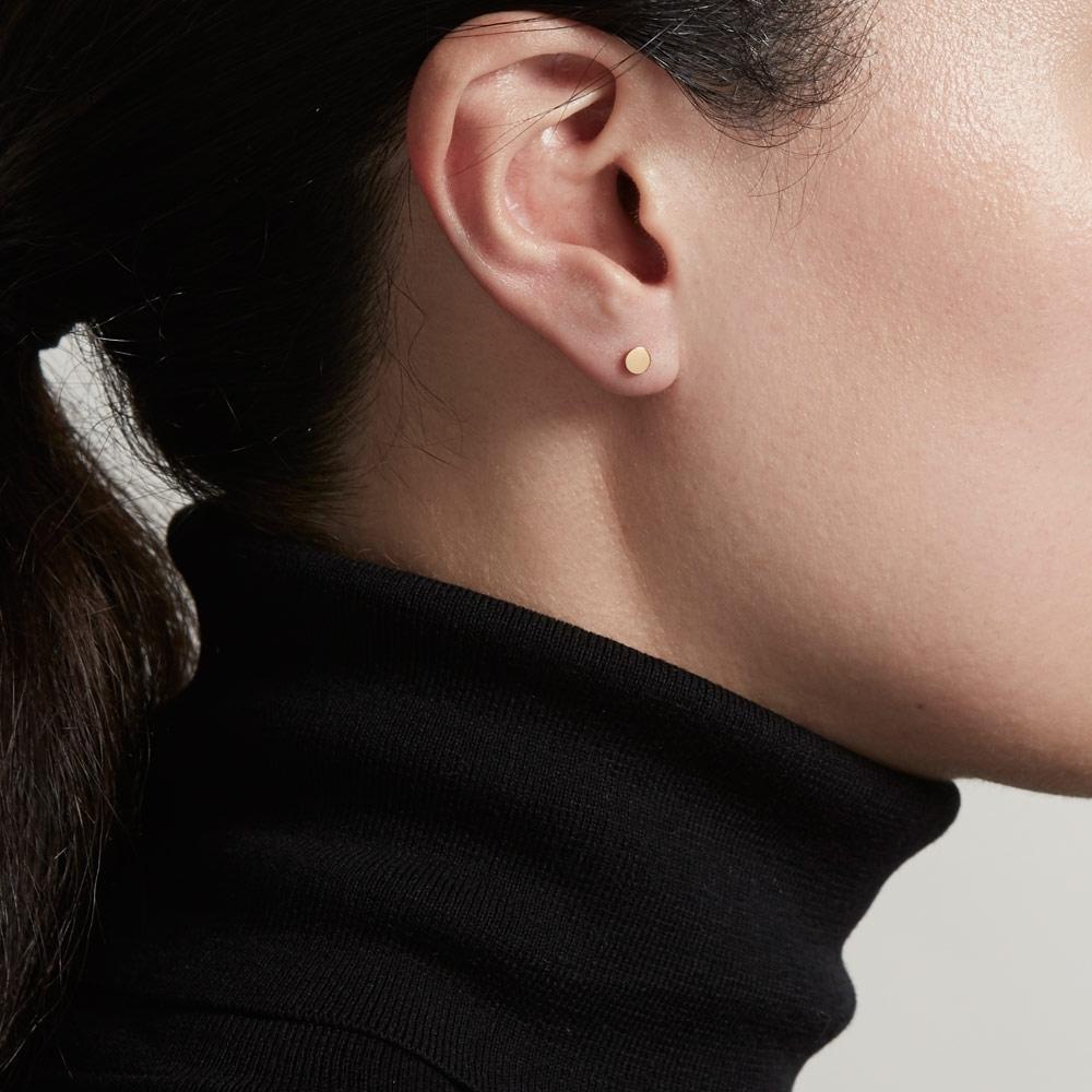 Disc Stilla Stud Earrings