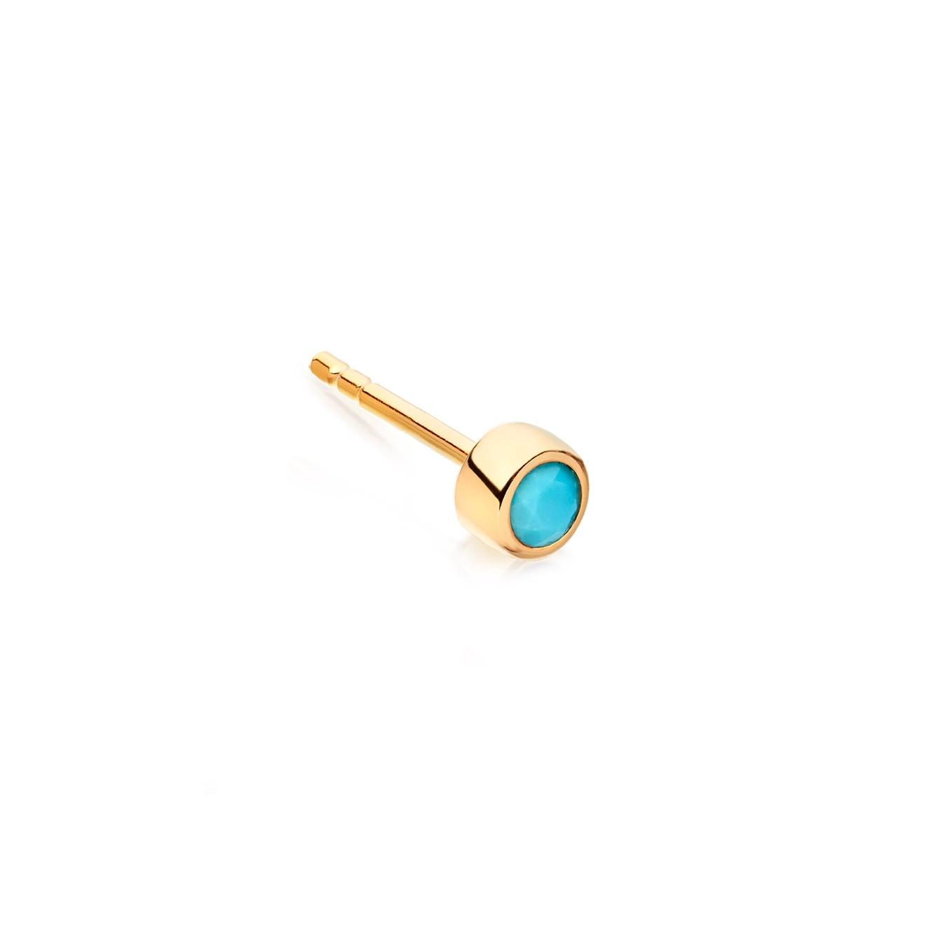 Mini Turquoise Single Stilla Stud Earring