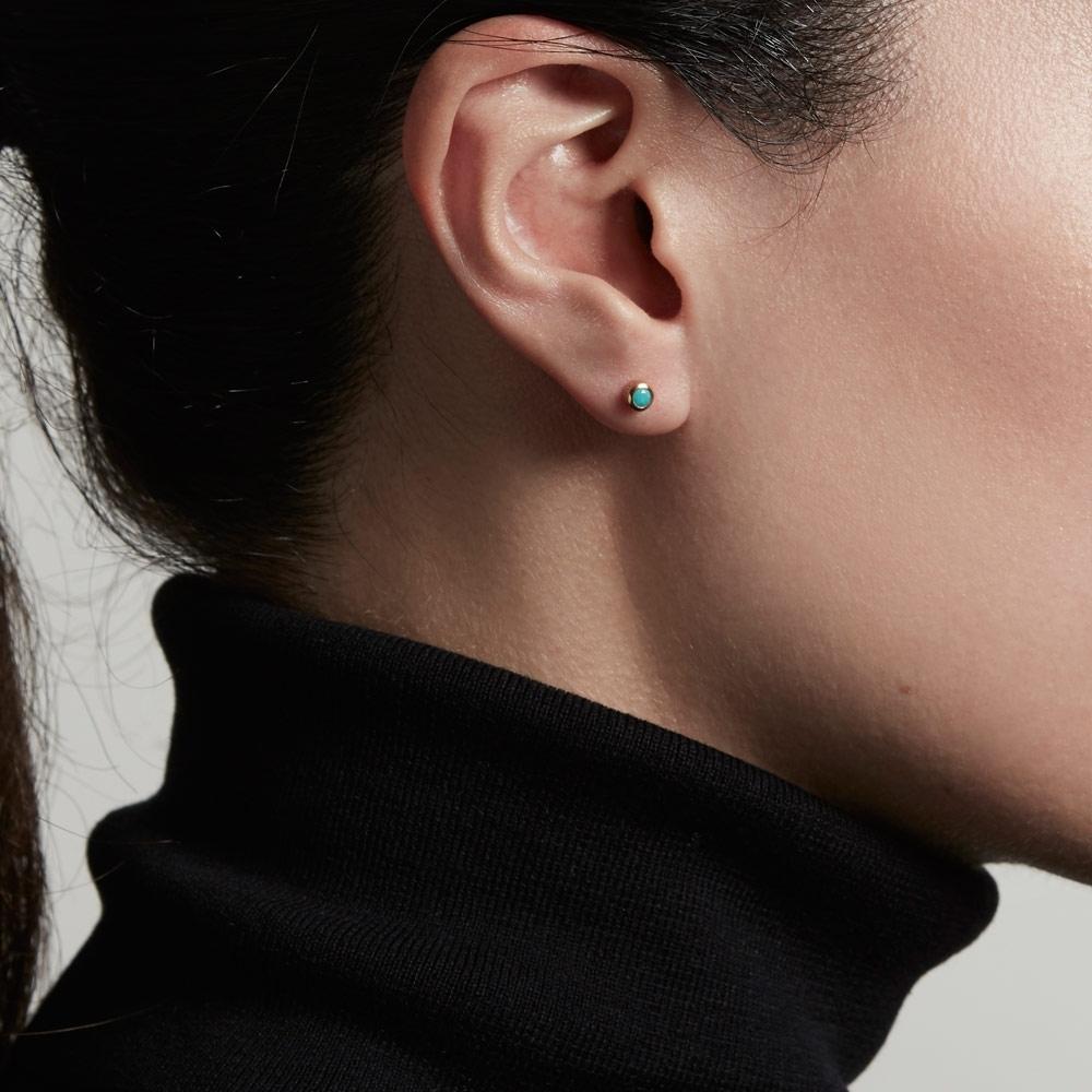 Mini Turquoise Stilla Stud Earrings
