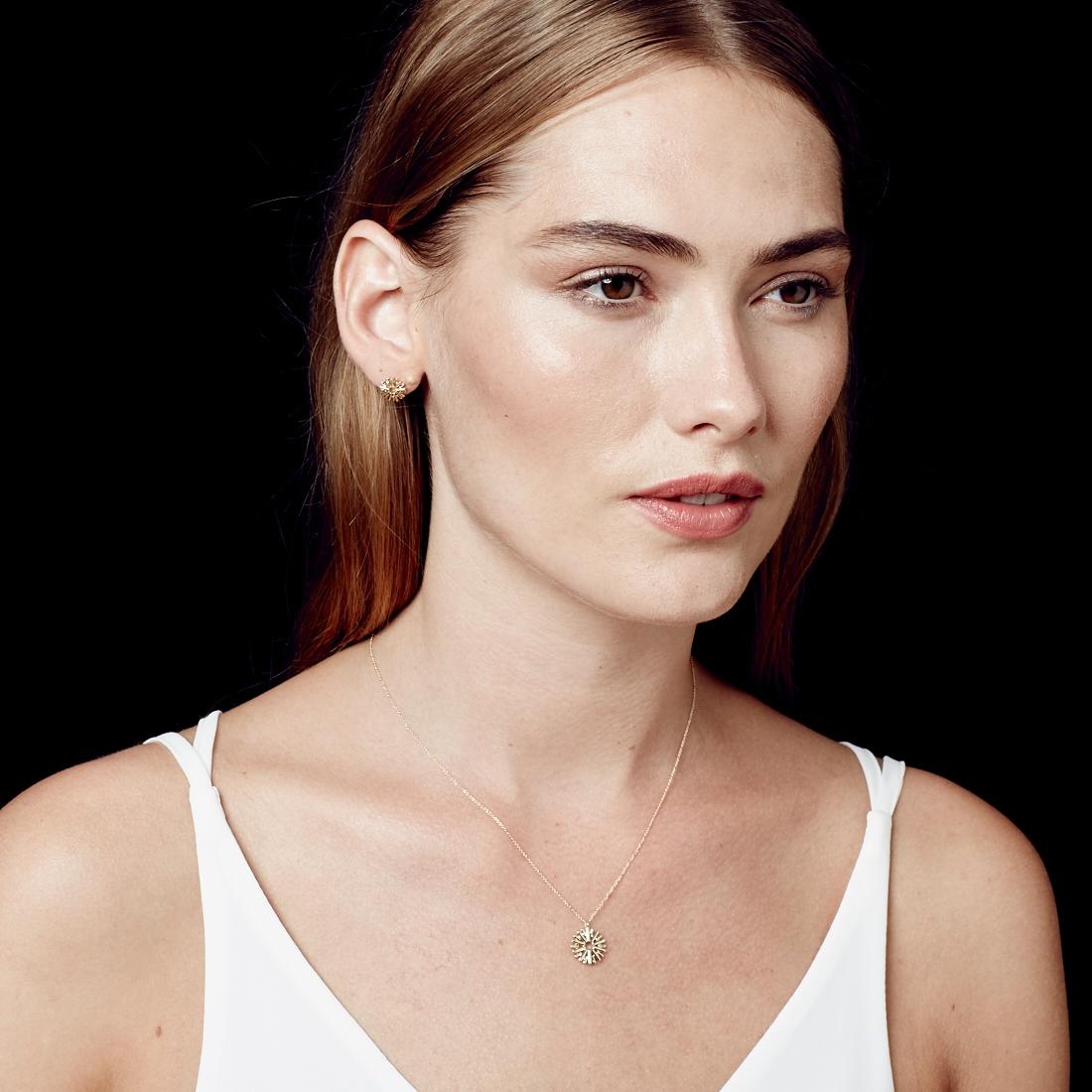 Sun Ray Stud Earrings