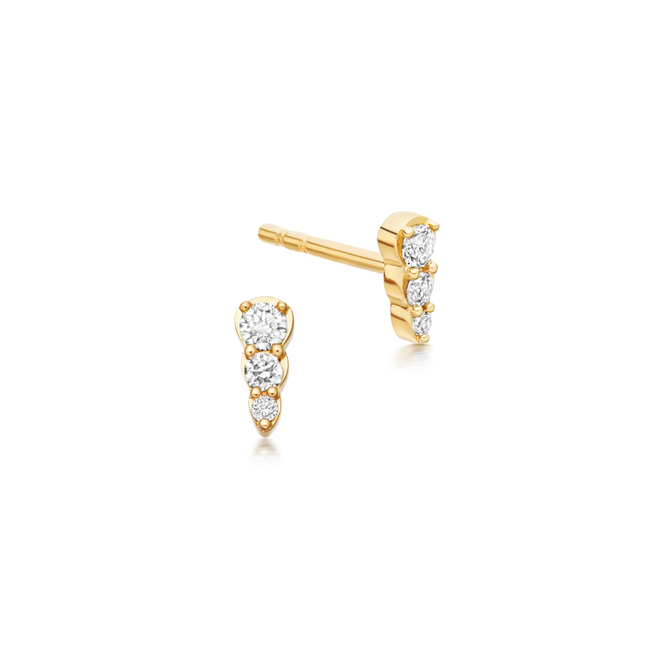 Mini Interstellar Diamond Stud Earrings