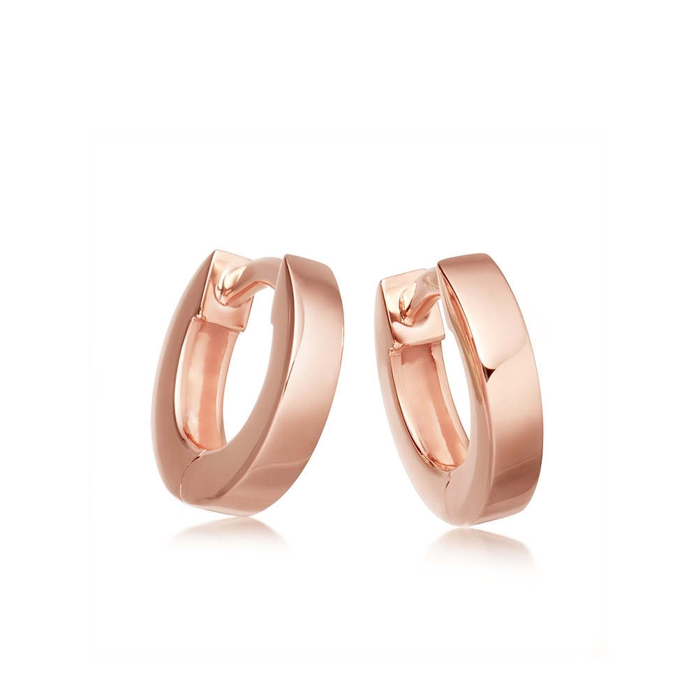 Mini Stilla Rose Gold Hoop Earrings