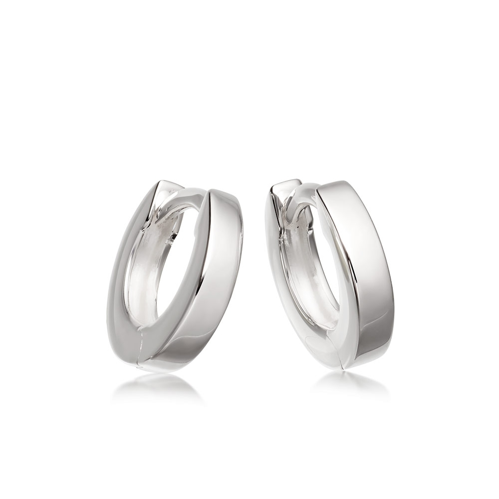 Mini Stilla Silver Hoop Earrings