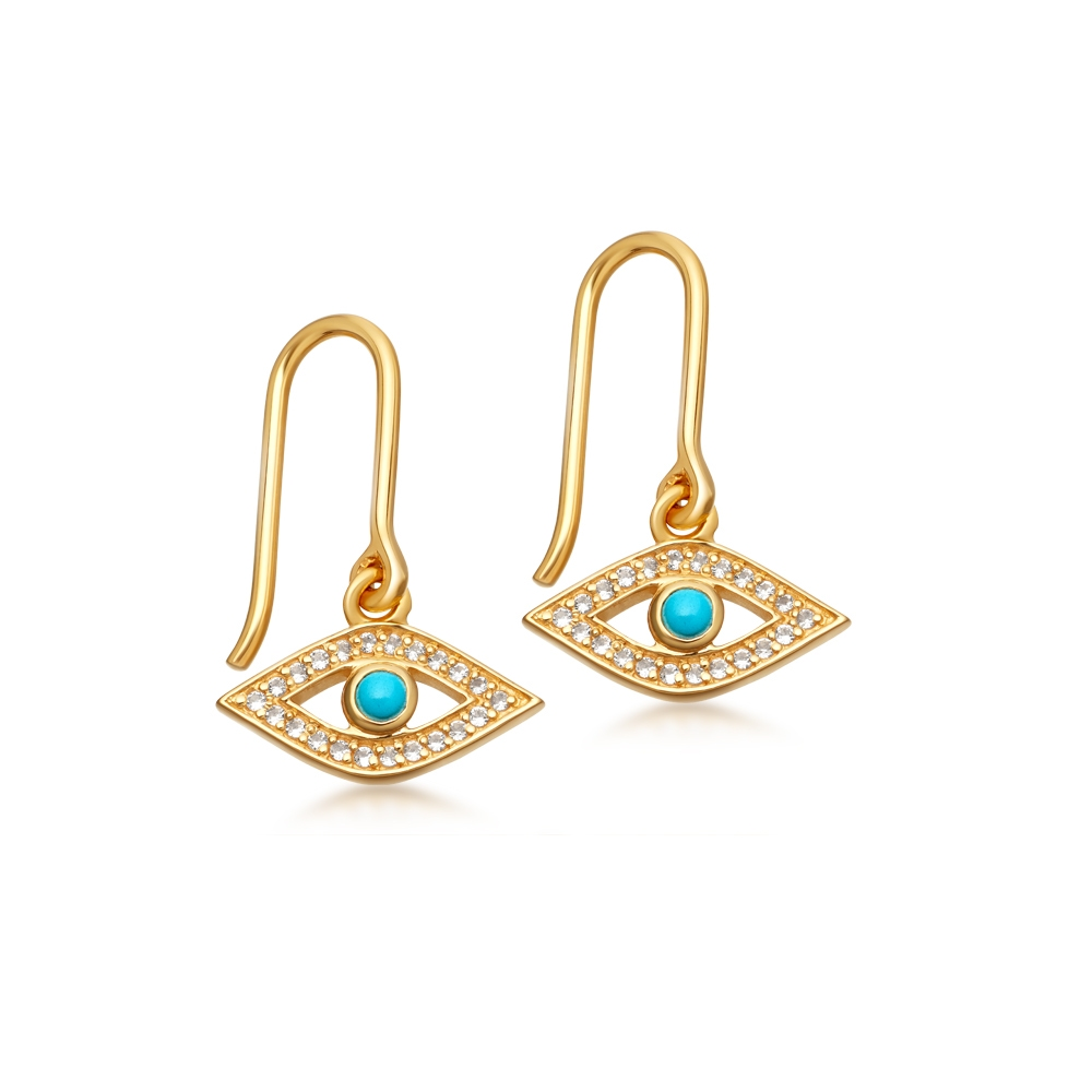 Evil Eye Biography Drop Earrings