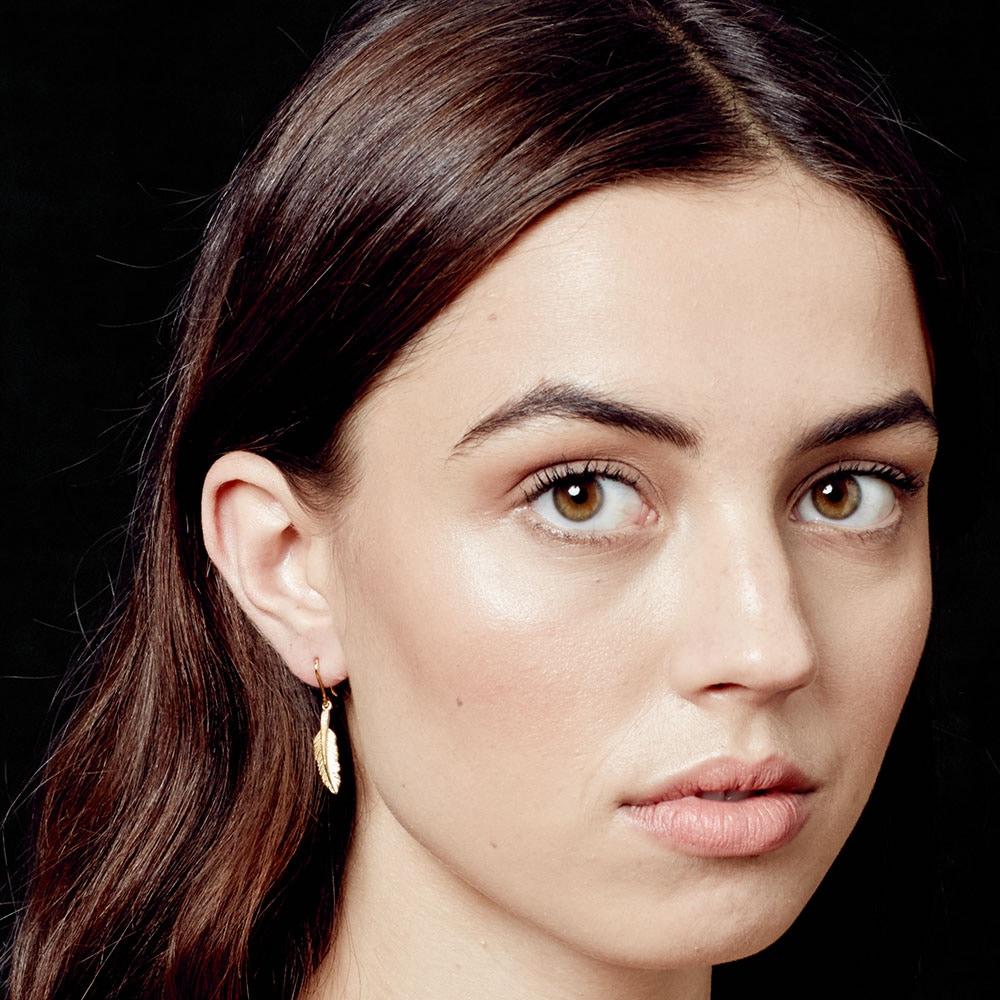 Feather Biography Drop Earrings