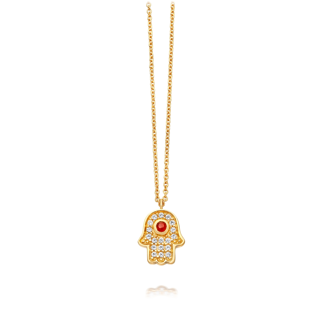 Mini Hamsa Biography Pendant Necklace
