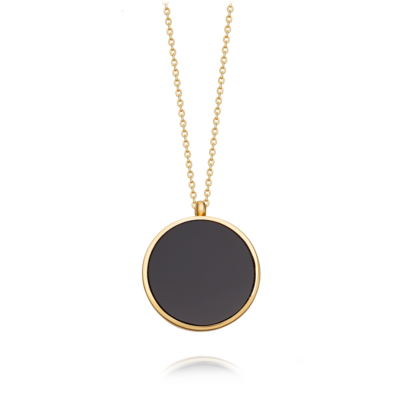 Black Onyx Slice Stilla Locket Necklace