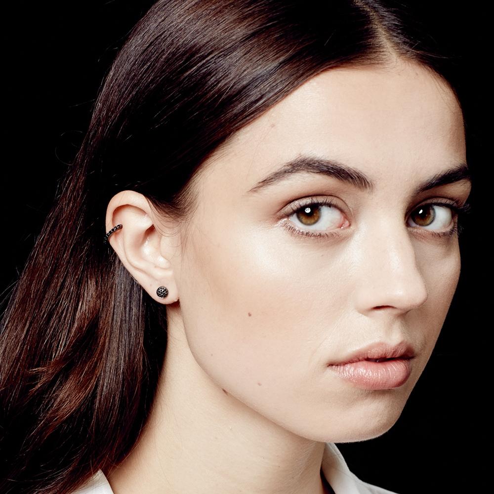 Black&Black Mini Icon Earrings
