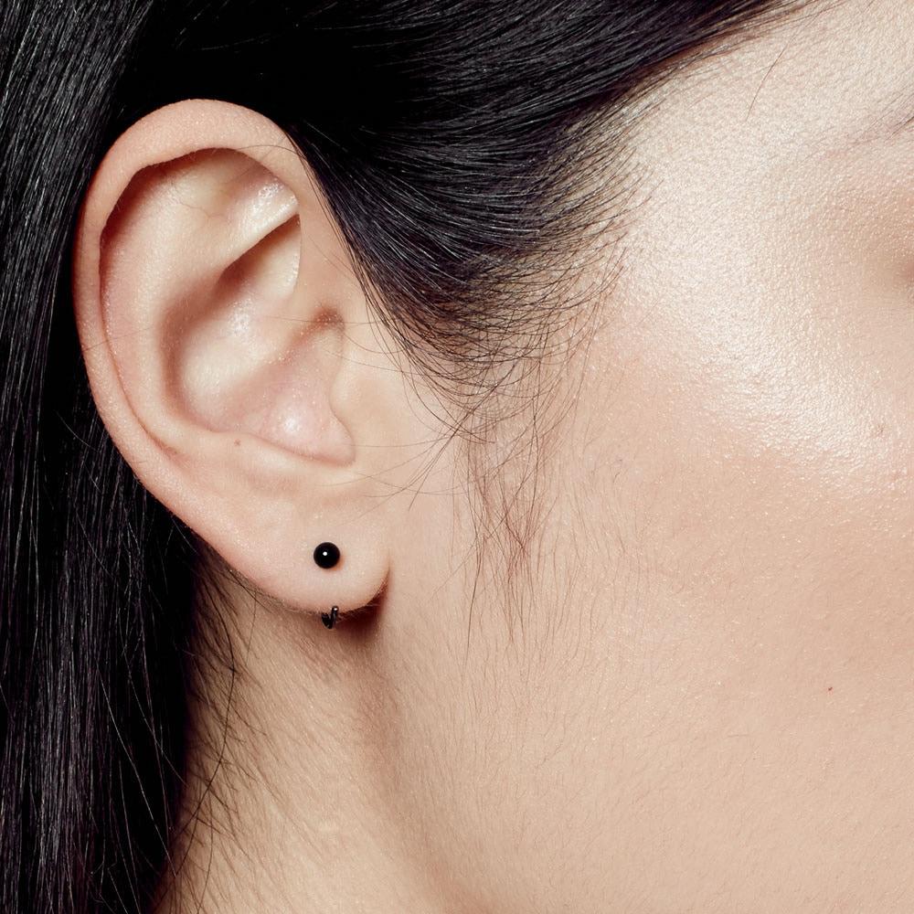 Black Onyx Ezra Stud Hoop Earrings