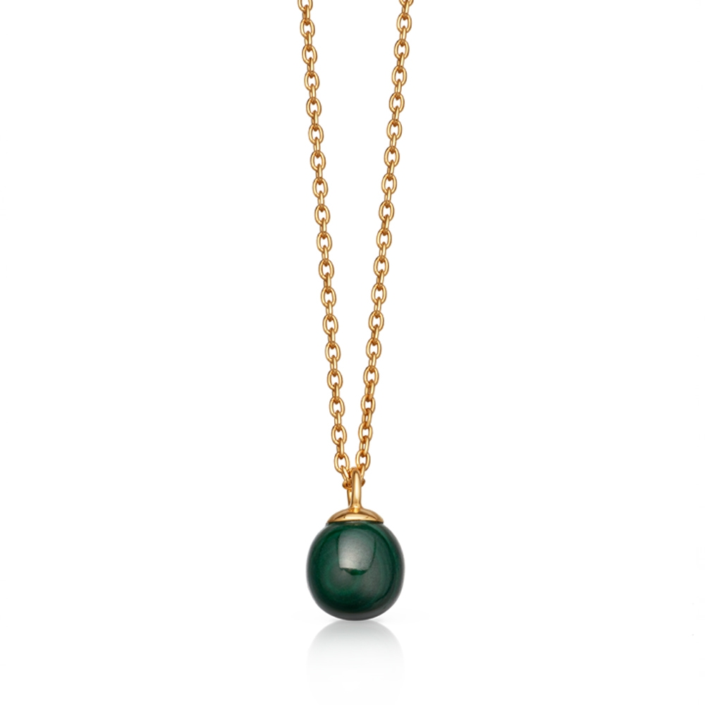 Peggy Malachite Pendant Necklace