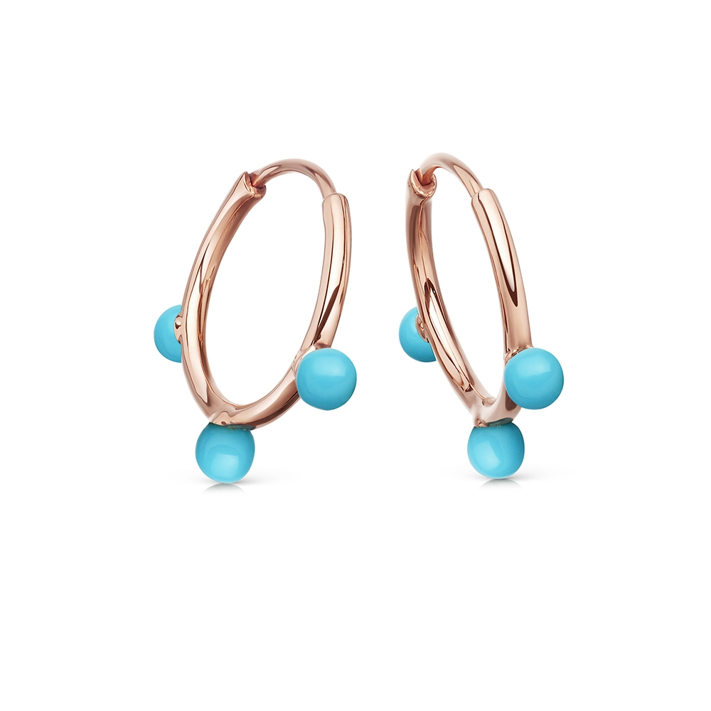 Hazel Turquoise Hoop Earrings