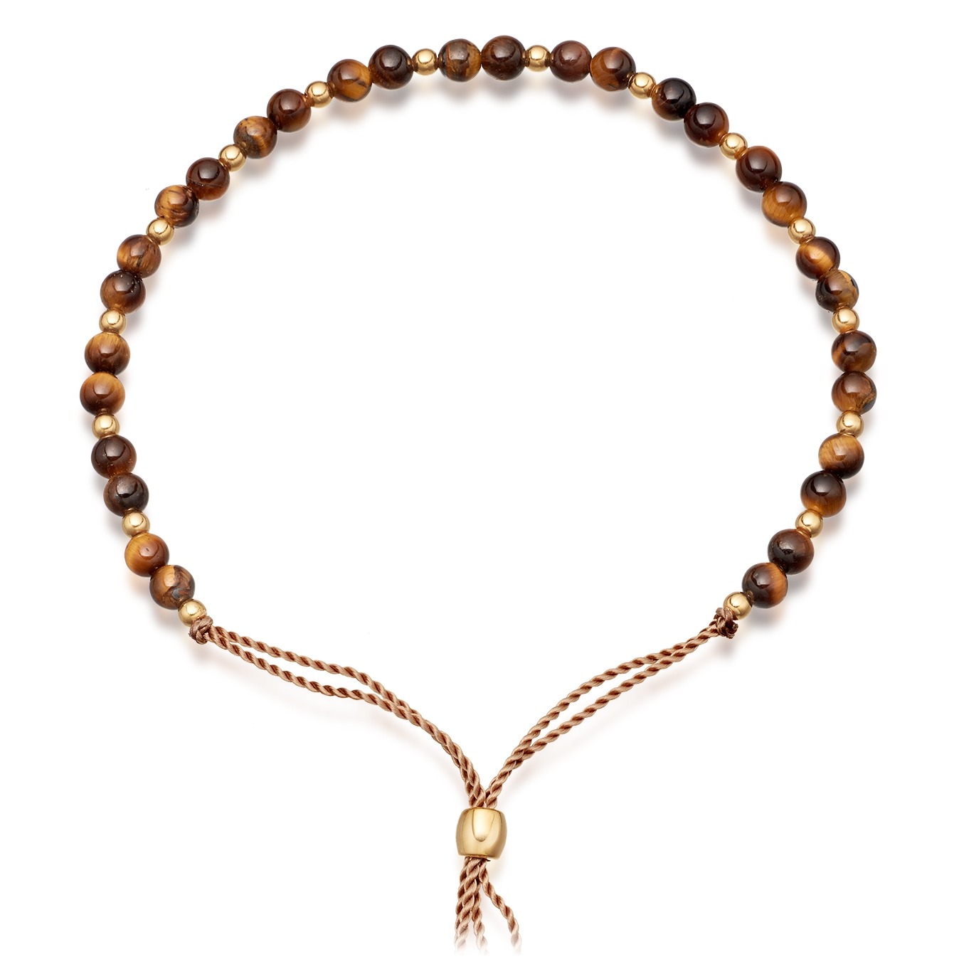 Tigers Eye Beaded Skinny Kula Bracelet