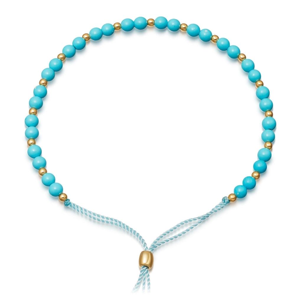 Turquoise Beaded Skinny Kula Bracelet