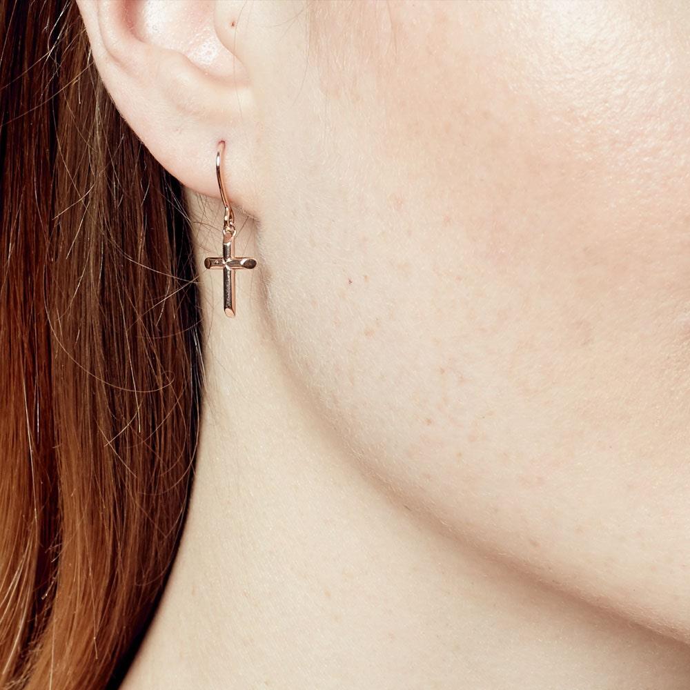 Cross Biography Drop Earrings