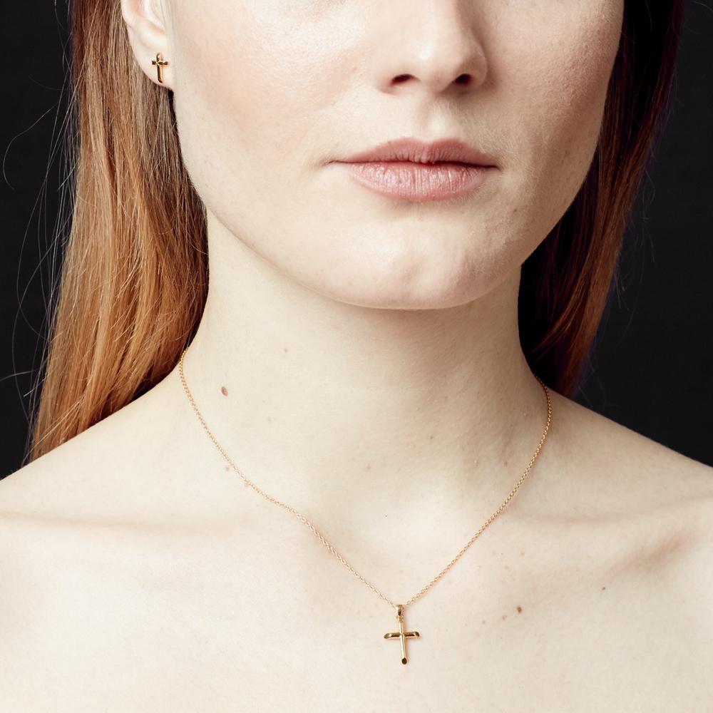 Cross Biography Pendant Necklace