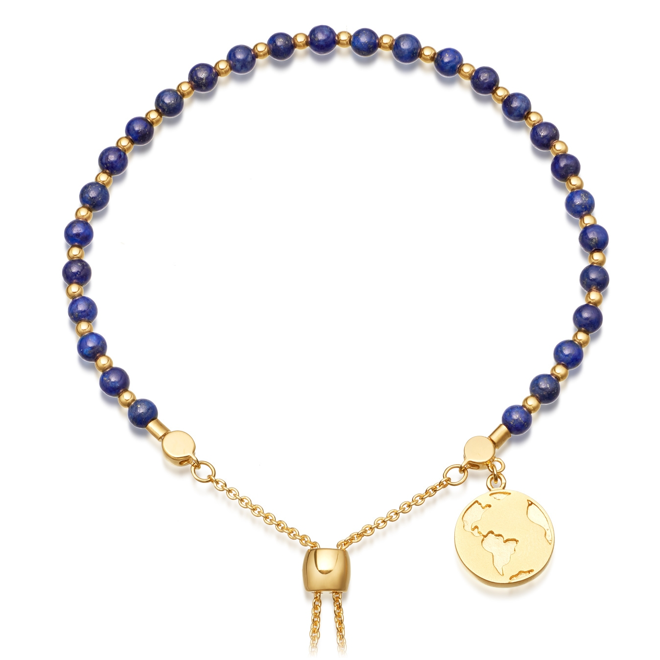 Lapis Earth Kula Bracelet