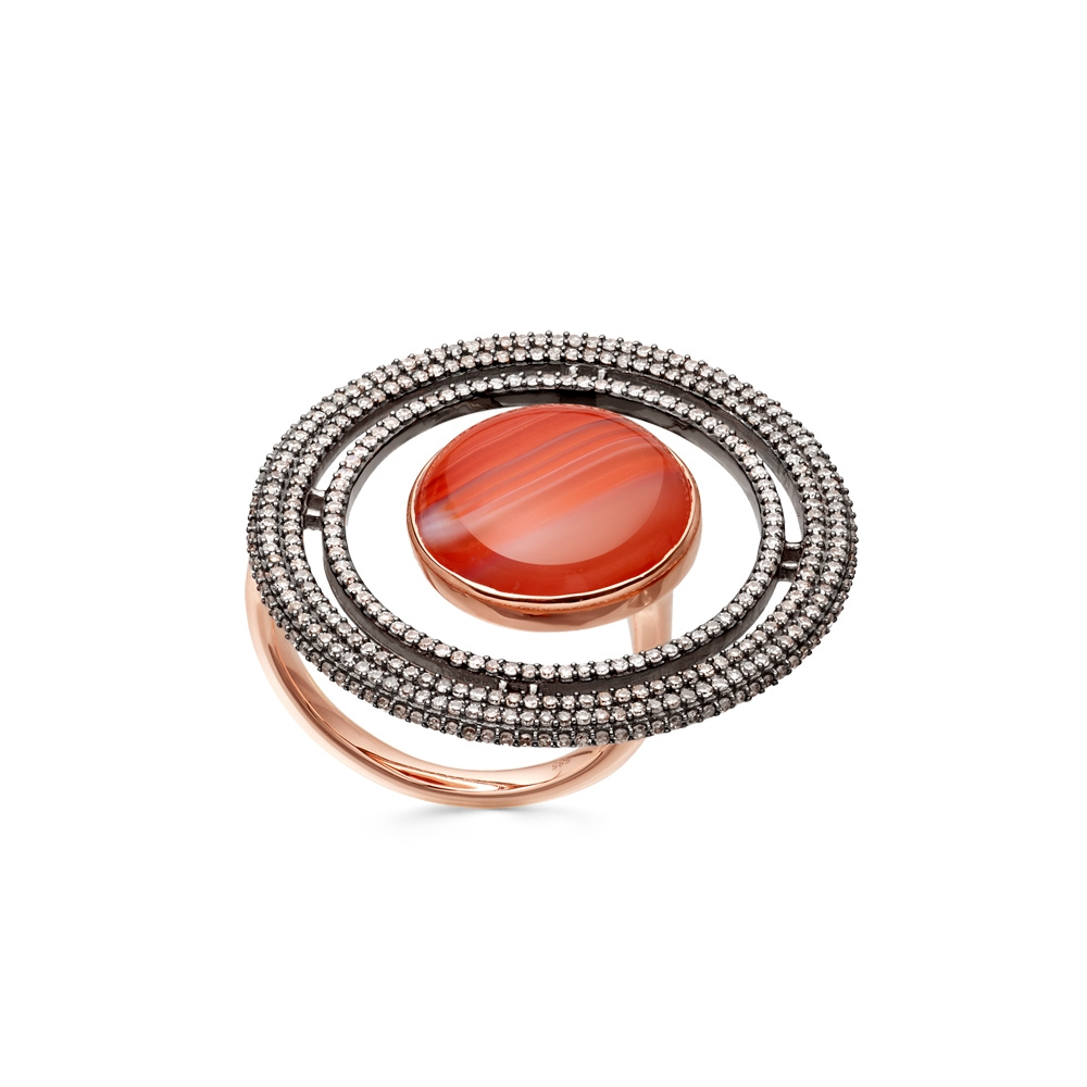 Agate Saturn Ring