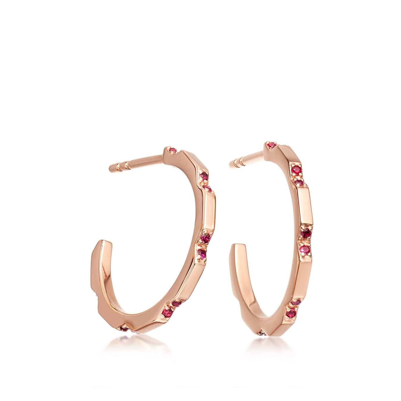 Aubar Ruby Hoop Earrings