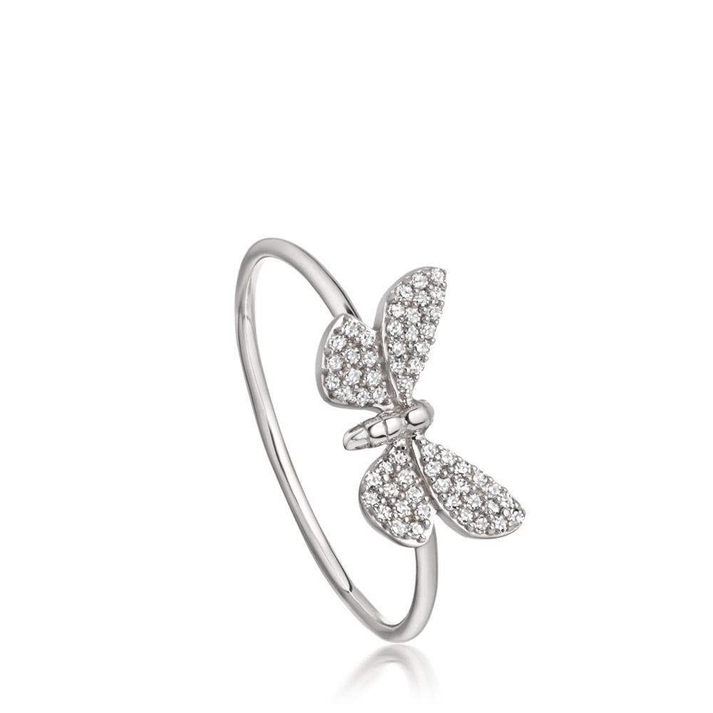 Cinnabar Papillon Diamond Ring