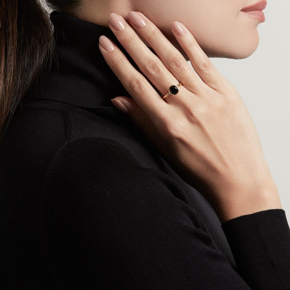 Mini Black Onyx Stilla Ring