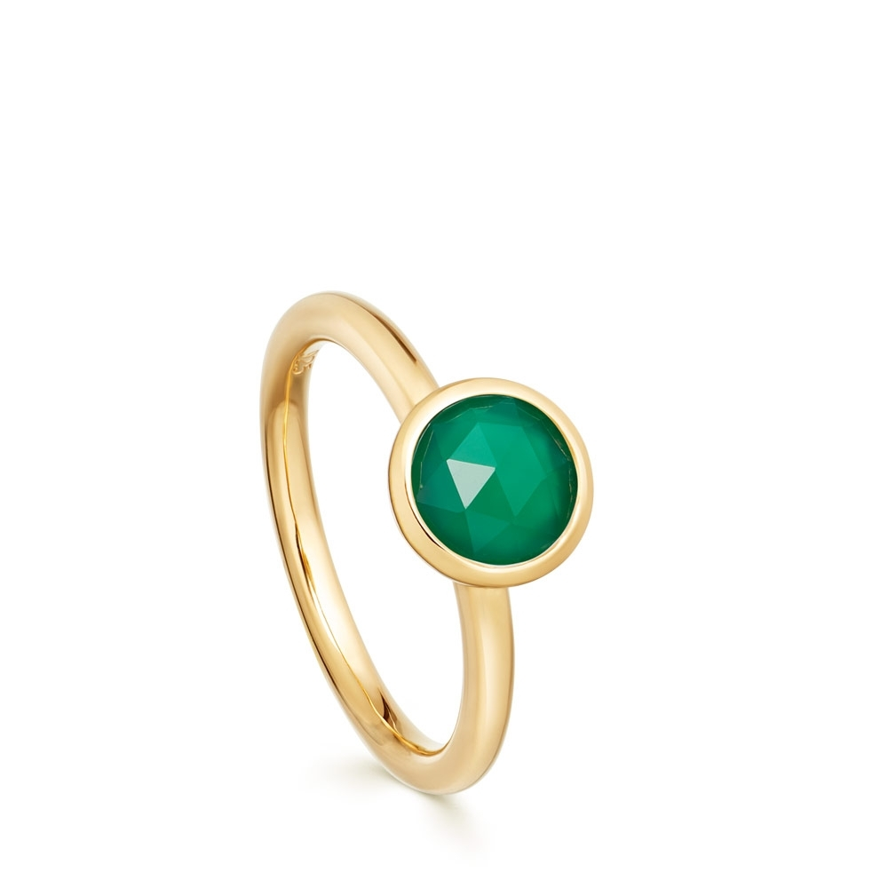 Stilla Green Onyx Round Ring