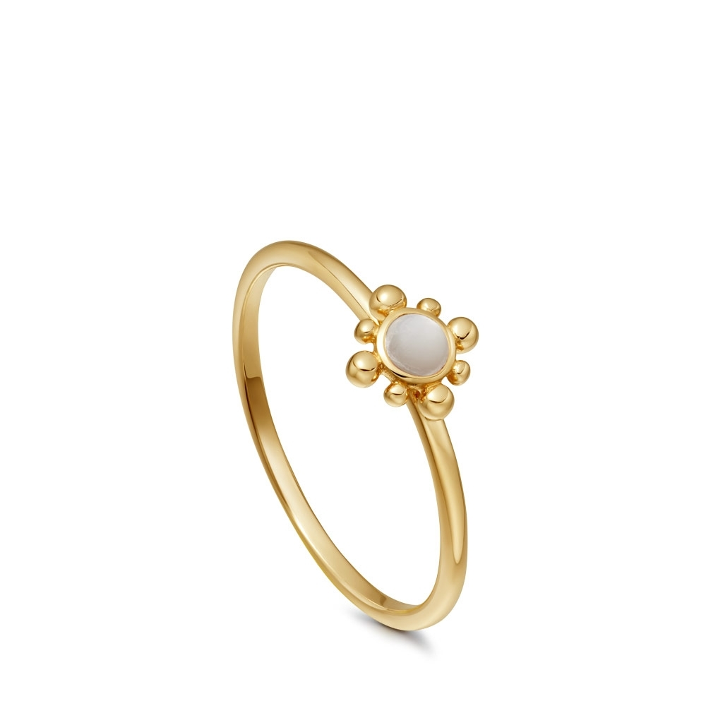 Mother of Pearl Mini Floris Ring