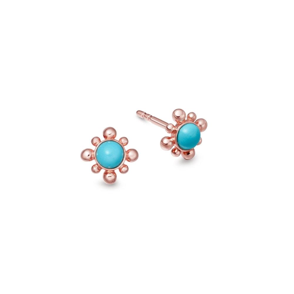 Turquoise Mini Floris Stud Earrings